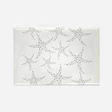 Dotty Gray Starfish. Rectangle Magnet