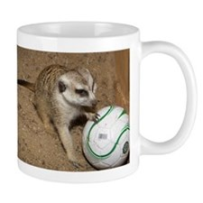 Meerkat on Soccer Ball Mug