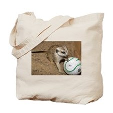 Meerkat on Soccer Ball Tote Bag