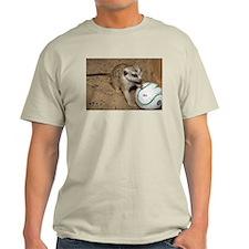 Meerkat on Soccer Ball Light T-Shirt
