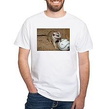 Meerkat on Soccer Ball White T-Shirt