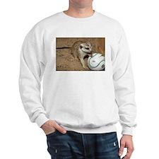 Meerkat on Soccer Ball Sweatshirt