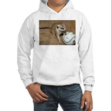 Meerkat on Soccer Ball Hooded Sweatshirt