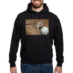 Meerkat on Soccer Ball Hoodie (dark)