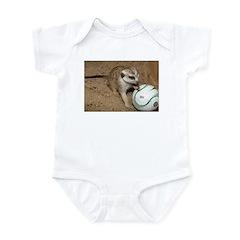 Meerkat on Soccer Ball Infant Bodysuit