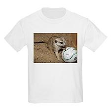 Meerkat on Soccer Ball Kids Light T-Shirt