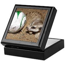 Meerkat With Soccer Ball Keepsake Box