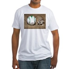 Meerkat With Soccer Ball Fitted T-Shirt