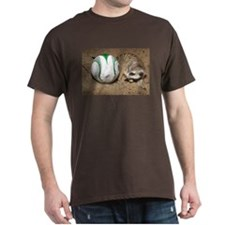 Meerkat With Soccer Ball Dark T-Shirt