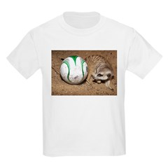 Meerkat With Soccer Ball Kids Light T-Shirt