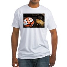 Golden Lion Tamarin with Volleyball Fitted T-Shirt