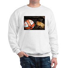 Golden Lion Tamarin with Volleyball Sweatshirt