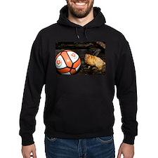 Golden Lion Tamarin with Volleyball Hoodie (dark)