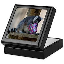 Lemur With Easter Bucket Keepsake Box