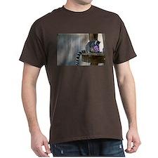 Lemur With Easter Bucket Dark T-Shirt