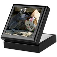 Lemur With Easter Bag Keepsake Box