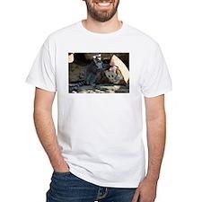 Lemur With Easter Bag White T-Shirt