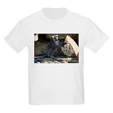 Lemur With Easter Bag Kids Light T-Shirt