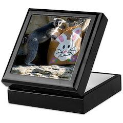 Lemur In Easter Bag Keepsake Box