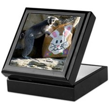 Lemur In Easter Bag Keepsake Box
