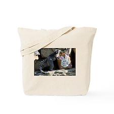 Lemur In Easter Bag Tote Bag