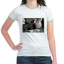 Lemur In Easter Bag Jr. Ringer T-Shirt
