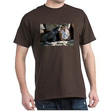 Lemur In Easter Bag Dark T-Shirt
