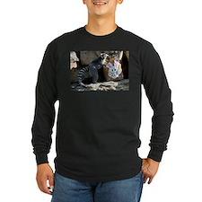 Lemur In Easter Bag Long Sleeve Dark T-Shirt