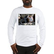Lemur In Easter Bag Long Sleeve T-Shirt