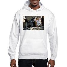 Lemur In Easter Bag Hooded Sweatshirt