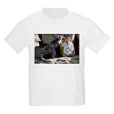 Lemur In Easter Bag Kids Light T-Shirt