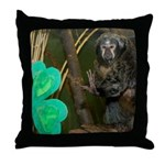Monkey With Shamrock Throw Pillow