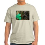 Monkey With Shamrock Light T-Shirt