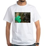 Monkey With Shamrock White T-Shirt