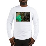 Monkey With Shamrock Long Sleeve T-Shirt
