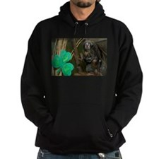 Monkey With Shamrock Hoodie (dark)