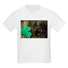 Monkey With Shamrock Kids Light T-Shirt