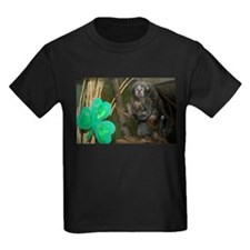 Monkey With Shamrock Kids Dark T-Shirt