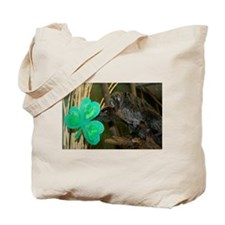 Monkey Grabbing Shamrock Tote Bag