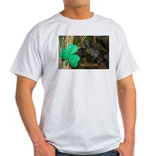 Monkey Grabbing Shamrock Light T-Shirt
