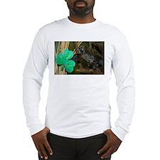 Monkey Grabbing Shamrock Long Sleeve T-Shirt