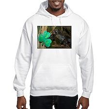 Monkey Grabbing Shamrock Hooded Sweatshirt