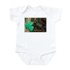 Monkey Grabbing Shamrock Infant Bodysuit