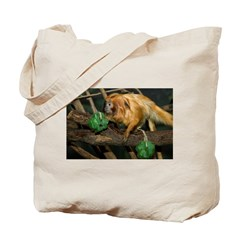Golden Lion Tamarin with Shamrock Tote Bag