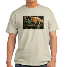 Golden Lion Tamarin with Shamrock Light T-Shirt