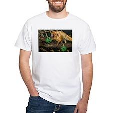 Golden Lion Tamarin with Shamrock White T-Shirt