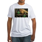 Golden Lion Tamarin with Shamrock Fitted T-Shirt
