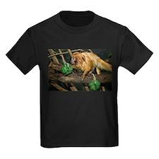 Golden Lion Tamarin with Shamrock Kids Dark T-Shir