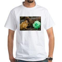 Golden Lion Tamarin Next To Shamrock Shirt