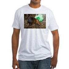 Elephant Shrew with Shamrock Fitted T-Shirt
